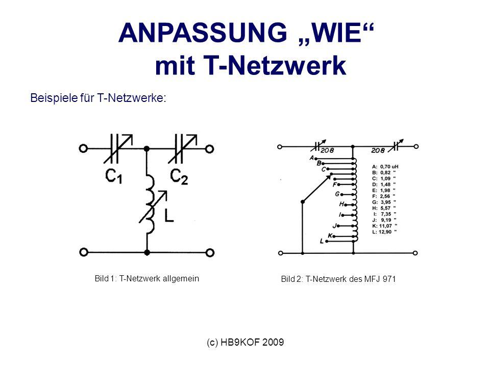 """ANPASSUNG """"WIE mit T-Netzwerk"""