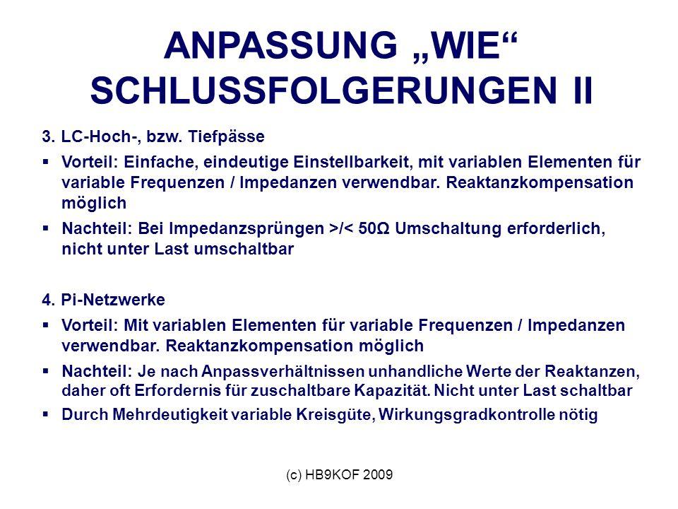 """ANPASSUNG """"WIE SCHLUSSFOLGERUNGEN II"""