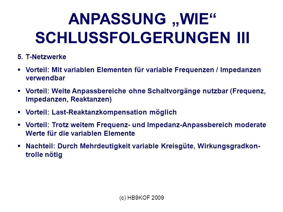 """ANPASSUNG """"WIE SCHLUSSFOLGERUNGEN III"""