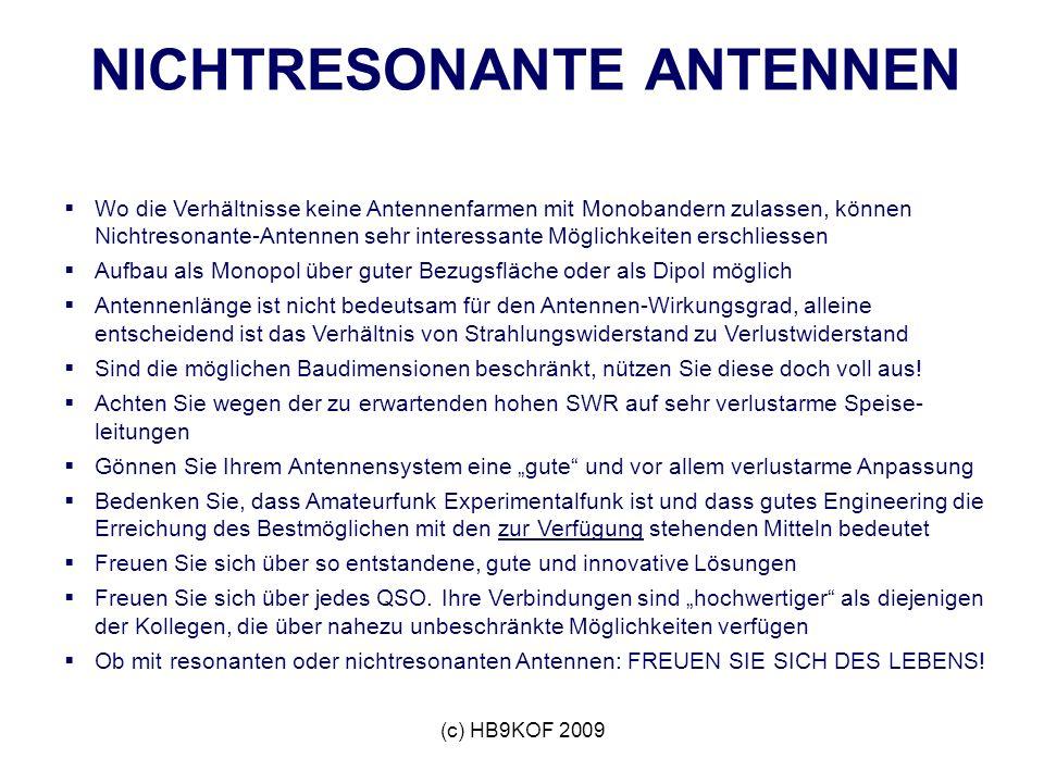 NICHTRESONANTE ANTENNEN