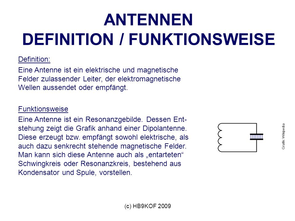 ANTENNEN DEFINITION / FUNKTIONSWEISE