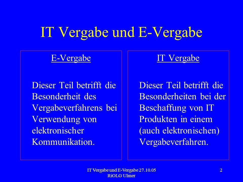 IT Vergabe und E-Vergabe
