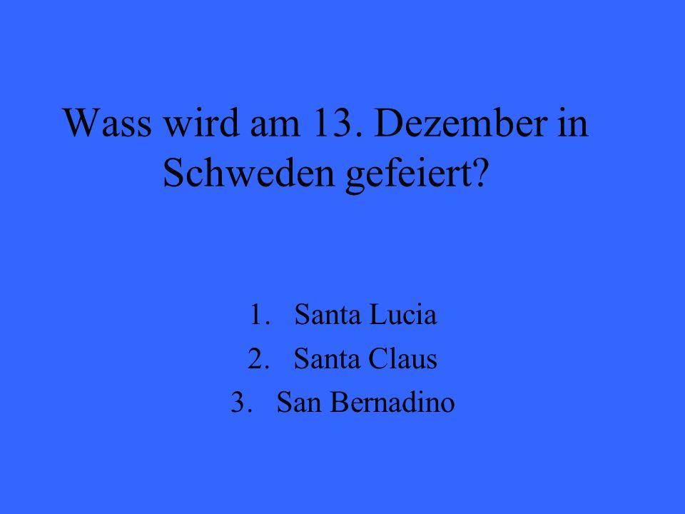Wass wird am 13. Dezember in Schweden gefeiert