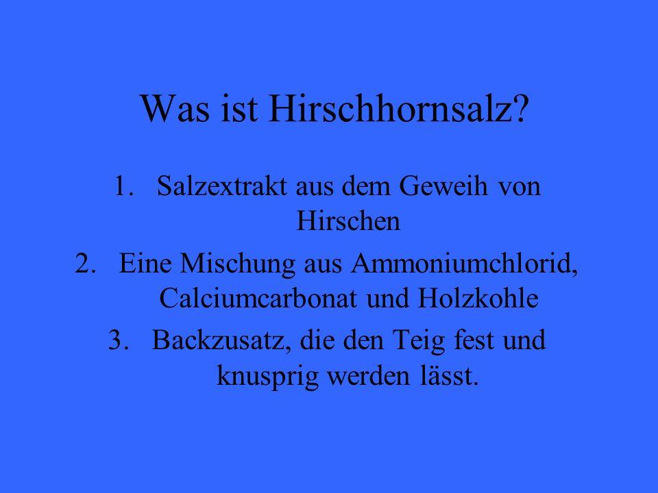 Was ist Hirschhornsalz