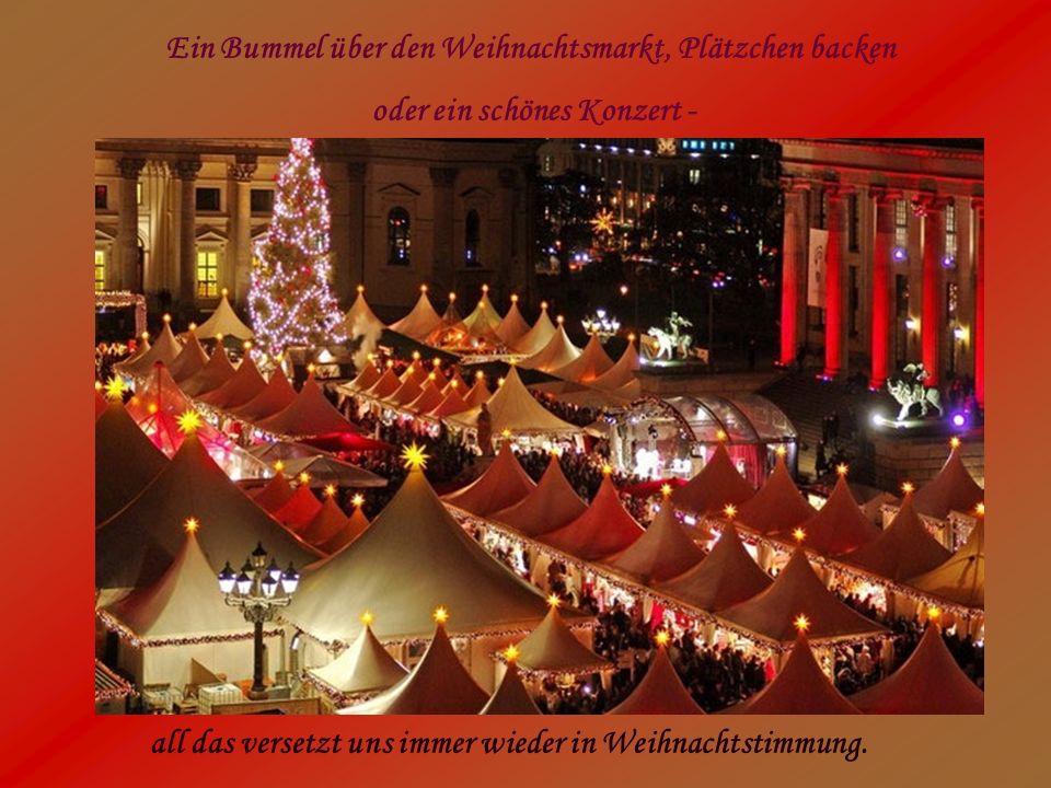 Ein Bummel über den Weihnachtsmarkt, Plätzchen backen