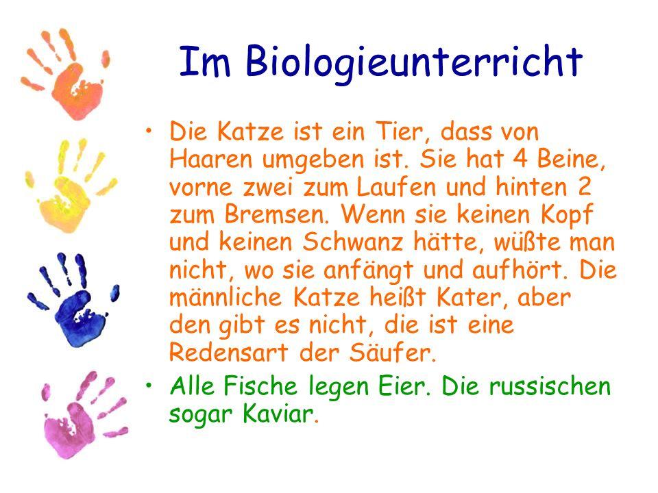 Im Biologieunterricht