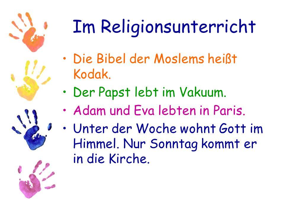 Im Religionsunterricht