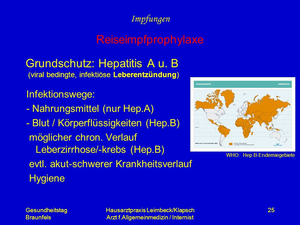 Impfungen Reiseimpfprophylaxe.