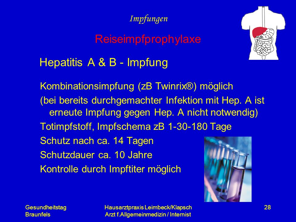 Hepatitis A & B - Impfung