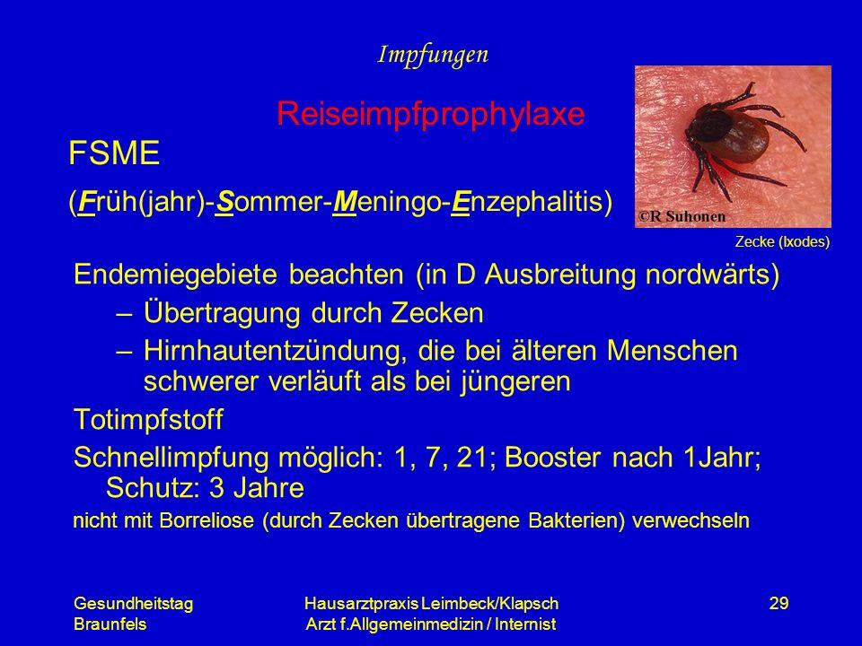 FSME (Früh(jahr)-Sommer-Meningo-Enzephalitis)