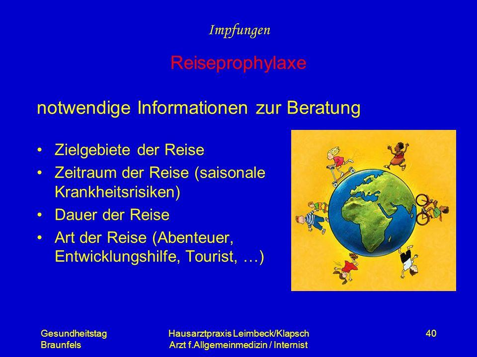 notwendige Informationen zur Beratung