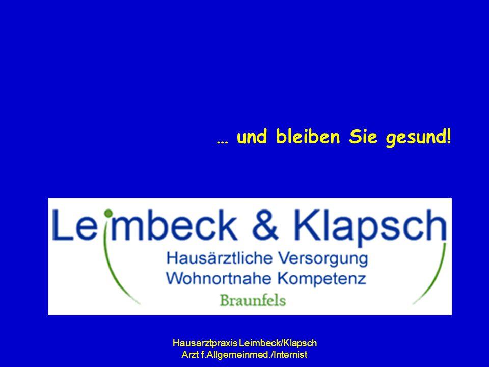 Hausarztpraxis Leimbeck/Klapsch Arzt f.Allgemeinmed./Internist