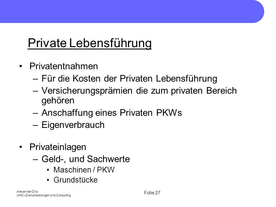 Private Lebensführung