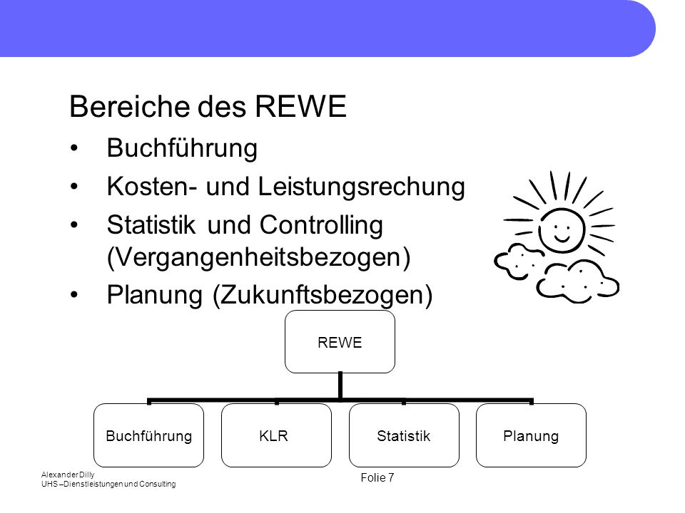Bereiche des REWE Buchführung Kosten- und Leistungsrechung