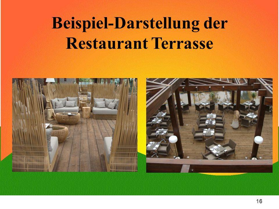 Beispiel-Darstellung der Restaurant Terrasse