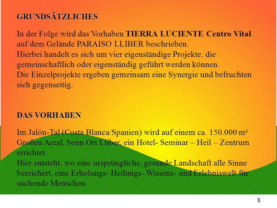 In der Folge wird das Vorhaben TIERRA LUCIENTE Centro Vital