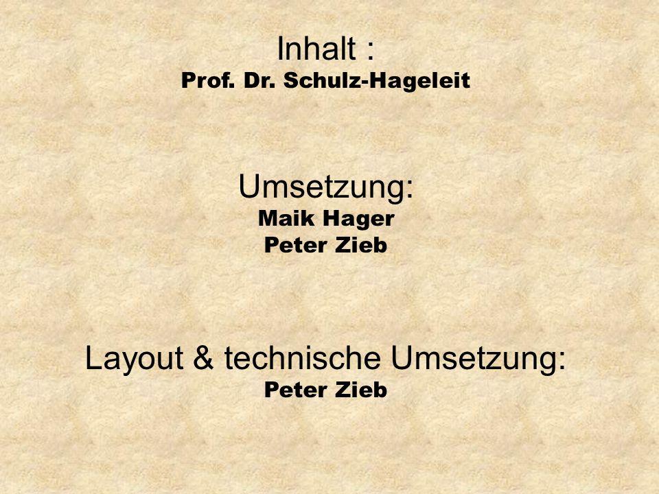 Layout & technische Umsetzung: