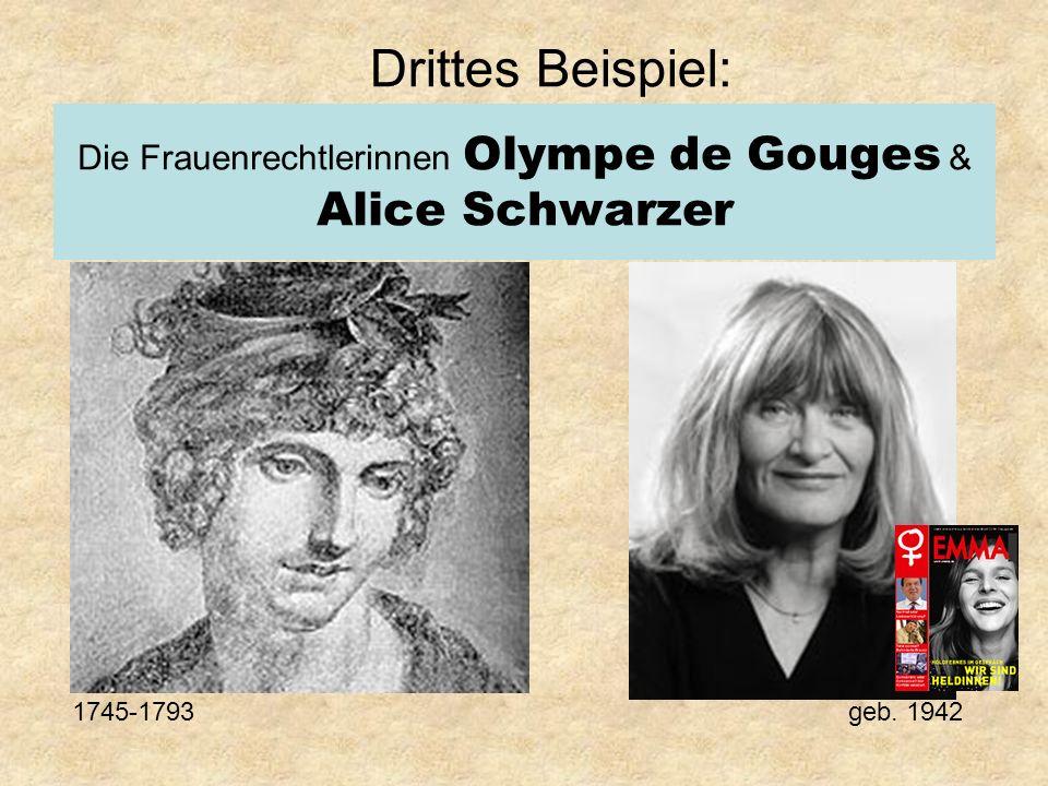 Die Frauenrechtlerinnen Olympe de Gouges & Alice Schwarzer