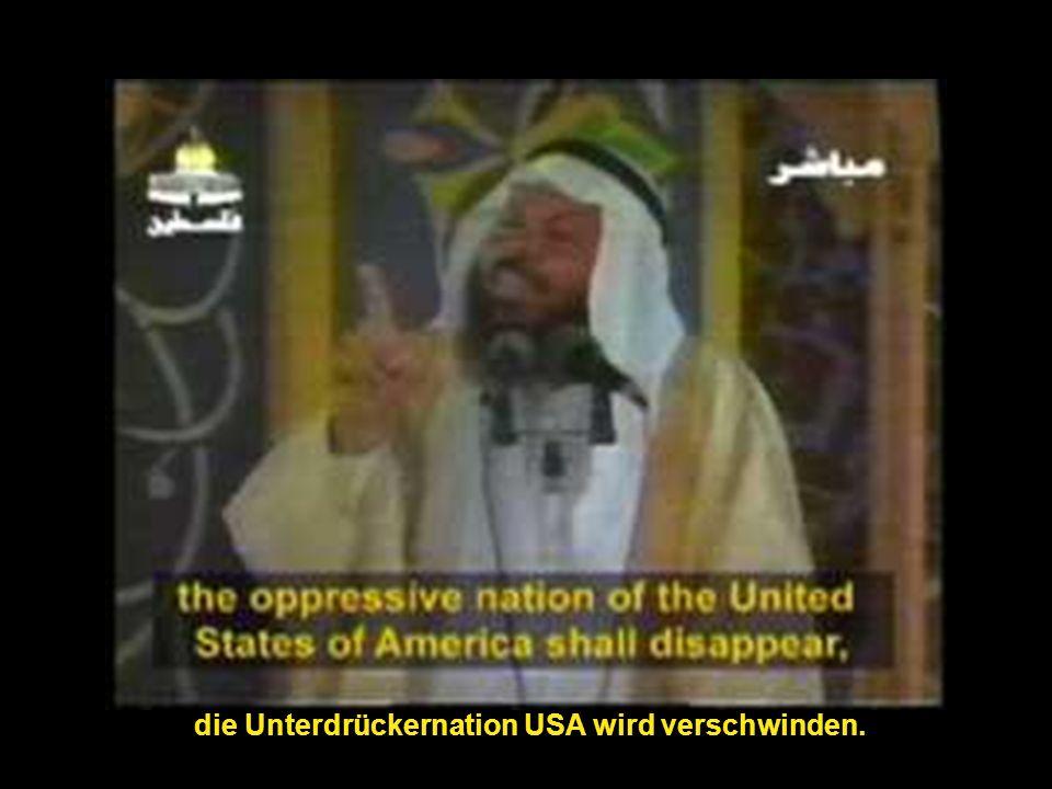 die Unterdrückernation USA wird verschwinden.