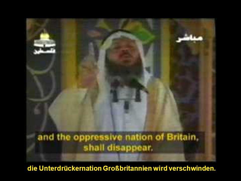 die Unterdrückernation Großbritannien wird verschwinden.