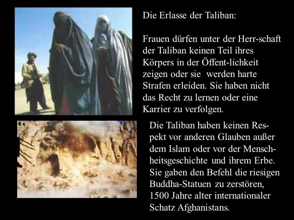 Die Erlasse der Taliban: