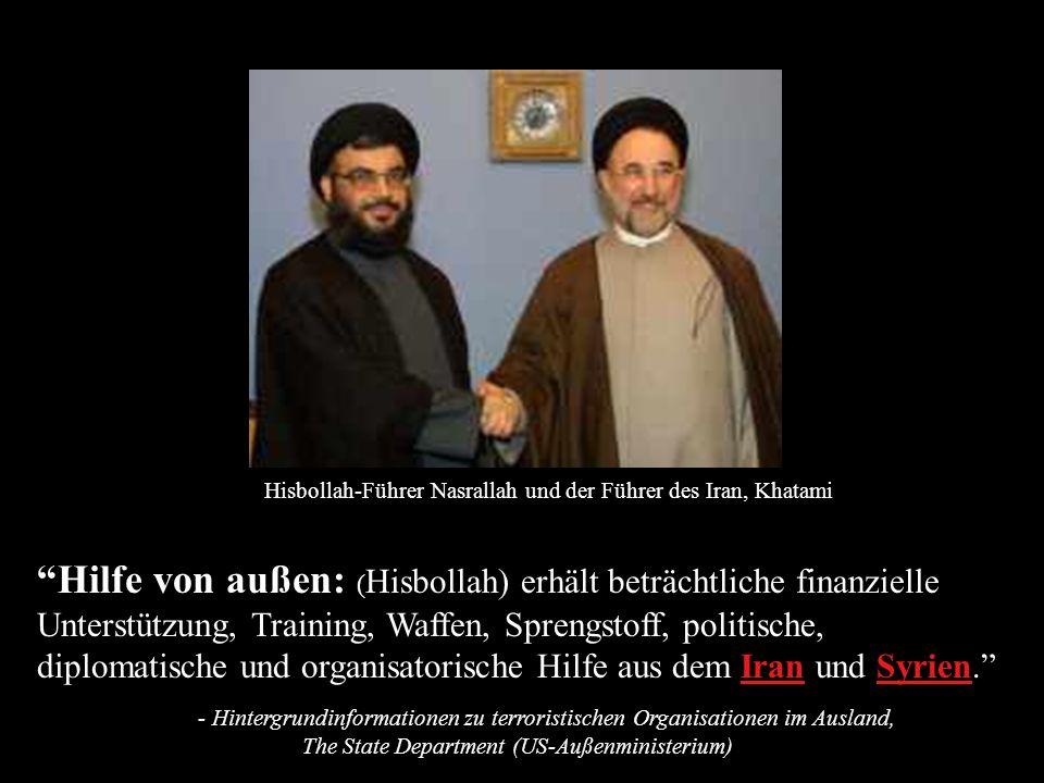 Hisbollah-Führer Nasrallah und der Führer des Iran, Khatami