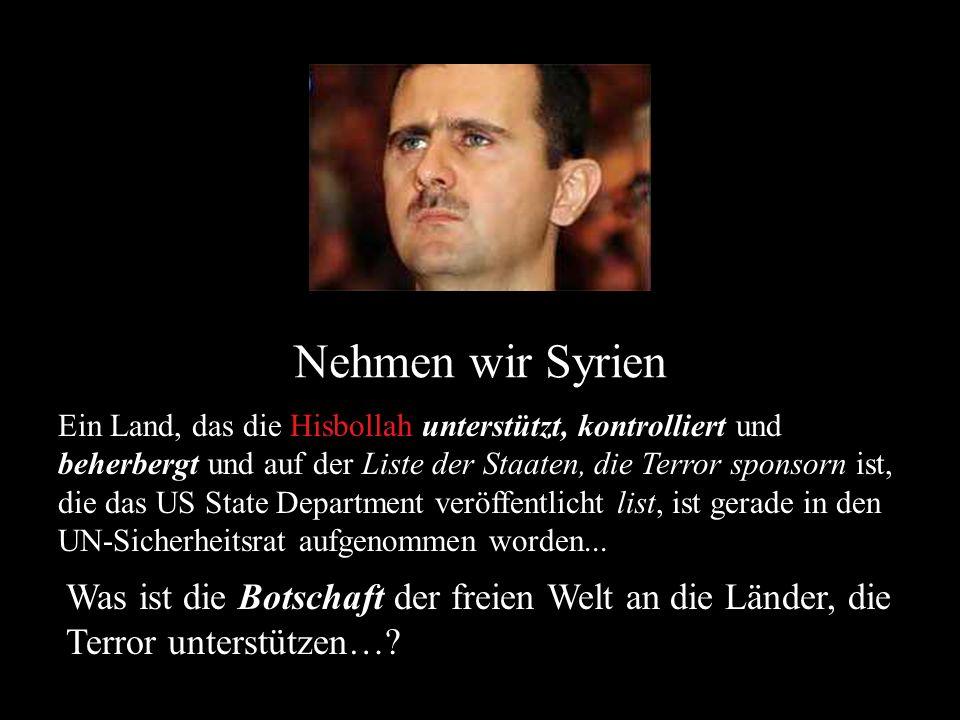 Nehmen wir Syrien
