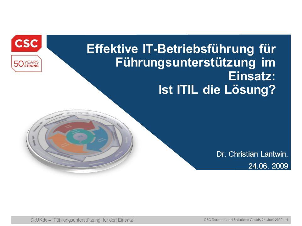 28.03.2017 Effektive IT-Betriebsführung für Führungsunterstützung im Einsatz: Ist ITIL die Lösung