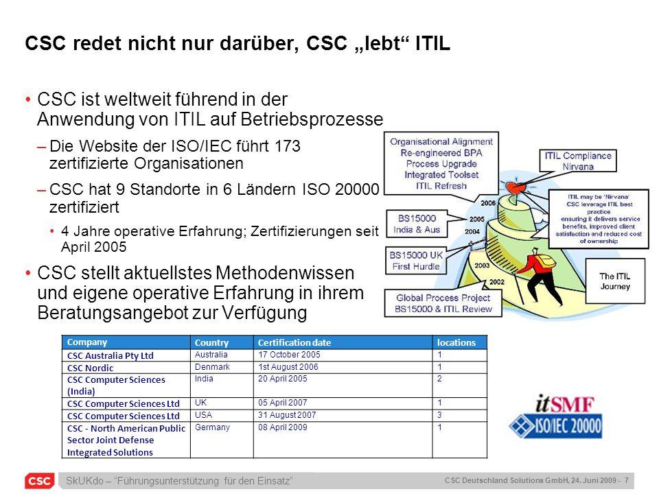"CSC redet nicht nur darüber, CSC ""lebt ITIL"