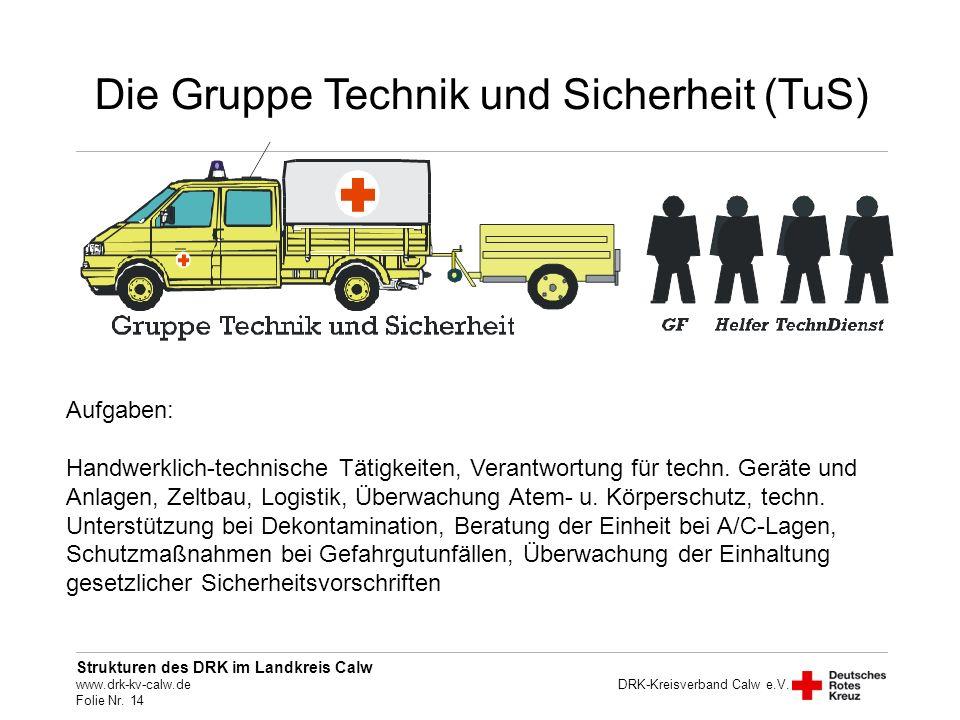 Die Gruppe Technik und Sicherheit (TuS)