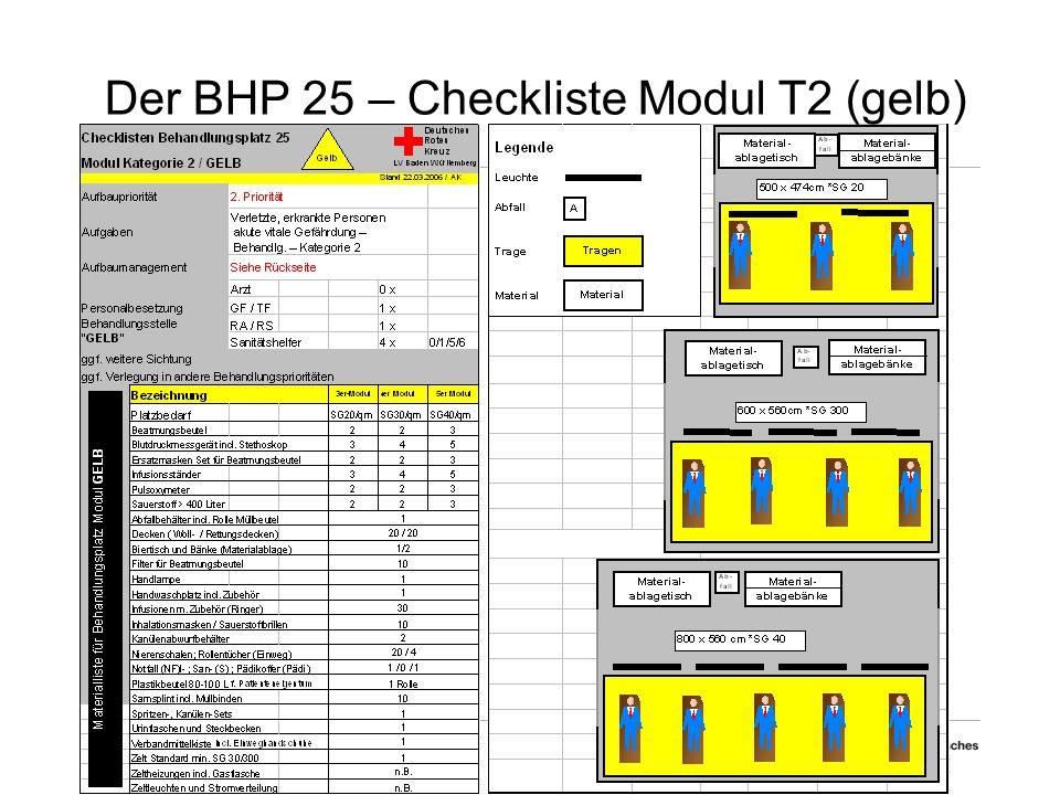Der BHP 25 – Checkliste Modul T2 (gelb)