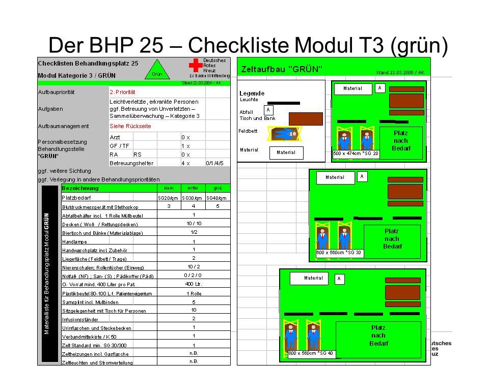 Der BHP 25 – Checkliste Modul T3 (grün)