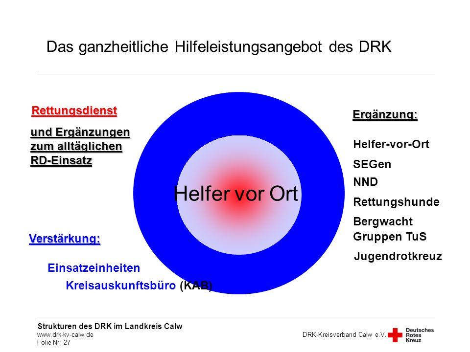 Helfer vor Ort Das ganzheitliche Hilfeleistungsangebot des DRK