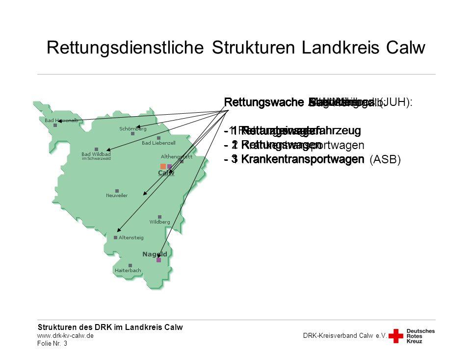 Rettungsdienstliche Strukturen Landkreis Calw
