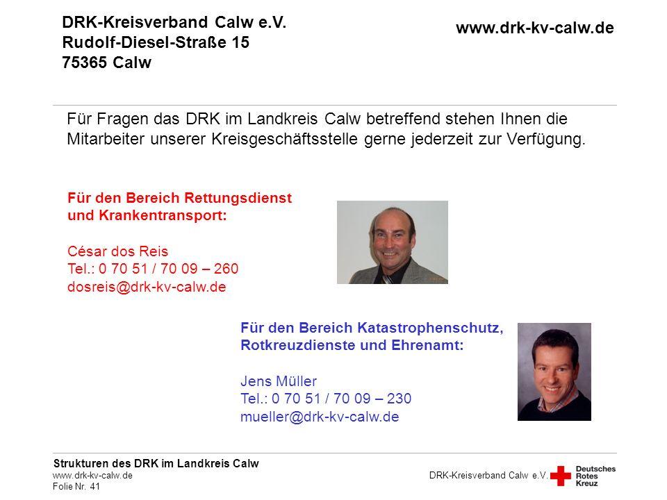 DRK-Kreisverband Calw e.V. Rudolf-Diesel-Straße 15 75365 Calw