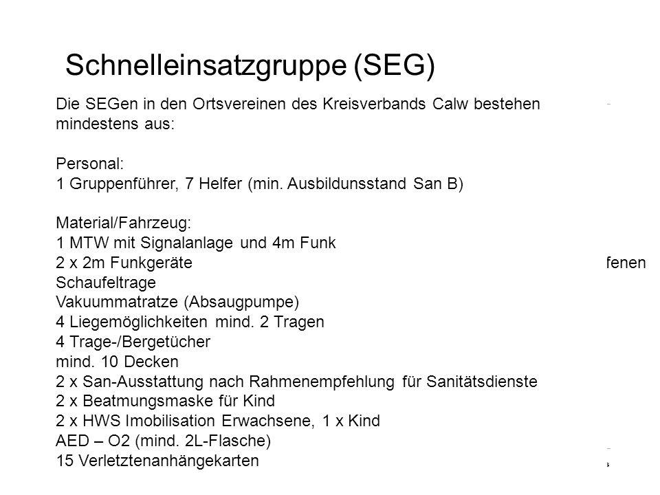 Schnelleinsatzgruppe (SEG)