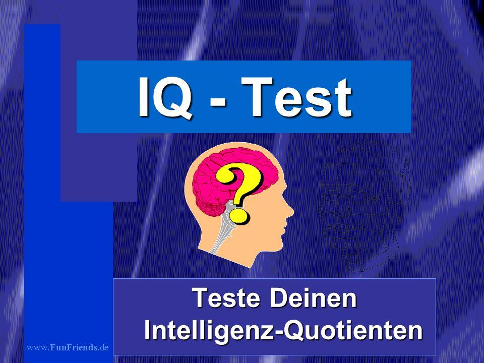 Teste Deinen Intelligenz-Quotienten