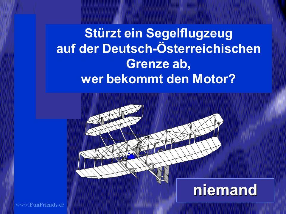 Stürzt ein Segelflugzeug auf der Deutsch-Österreichischen Grenze ab, wer bekommt den Motor