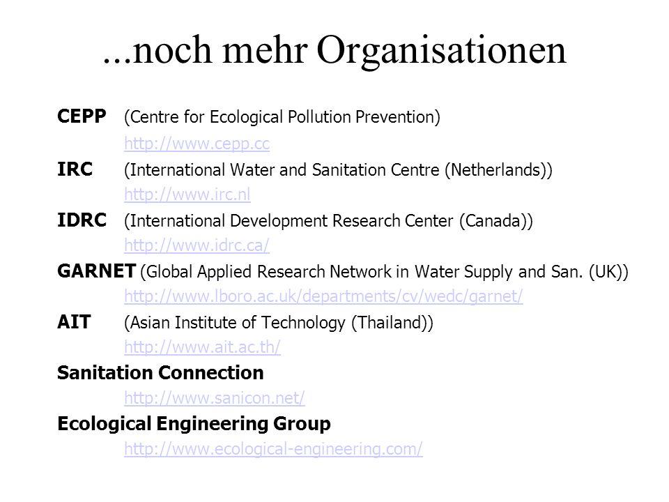 ...noch mehr Organisationen