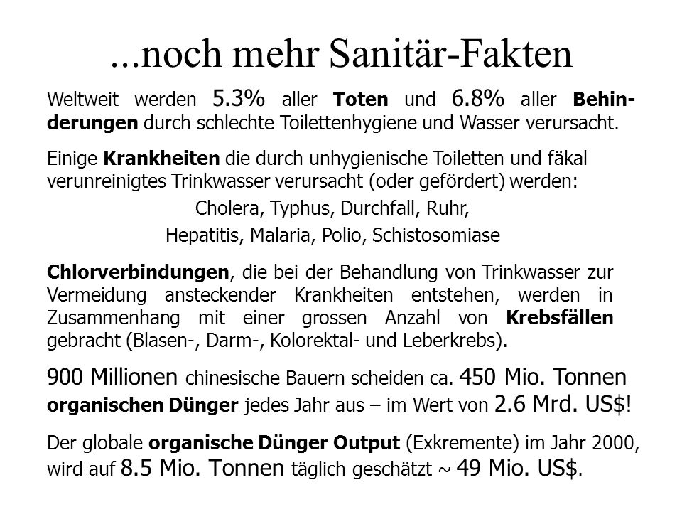 ...noch mehr Sanitär-Fakten