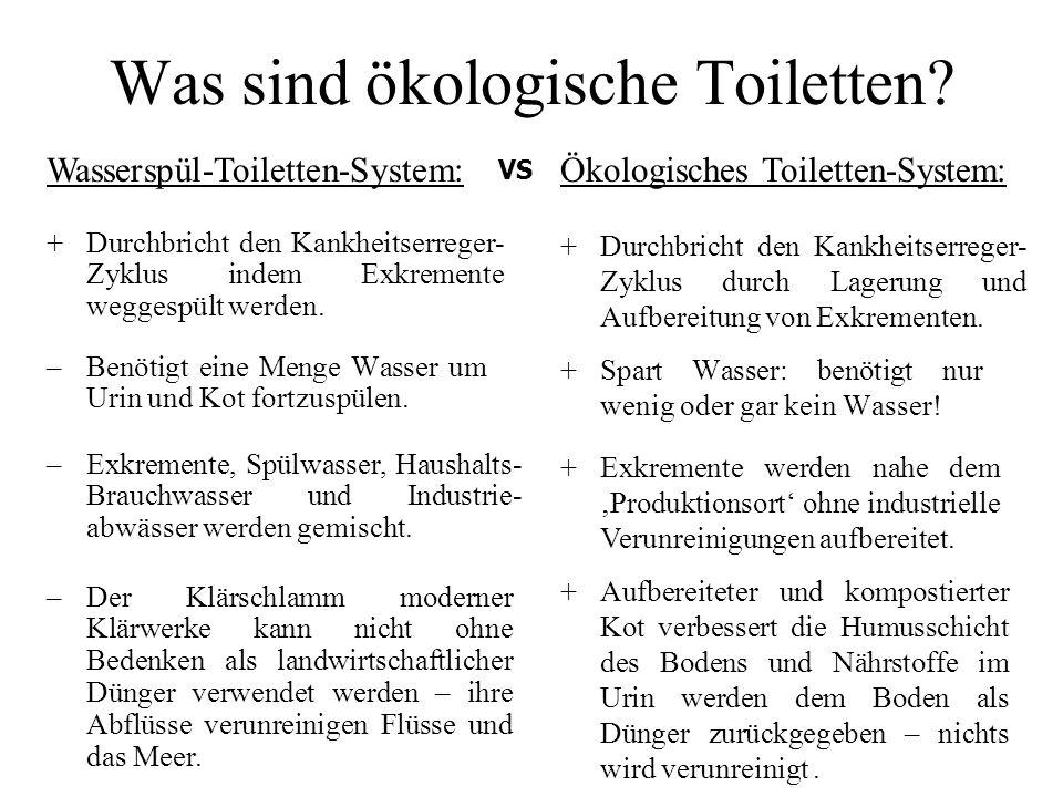 Was sind ökologische Toiletten