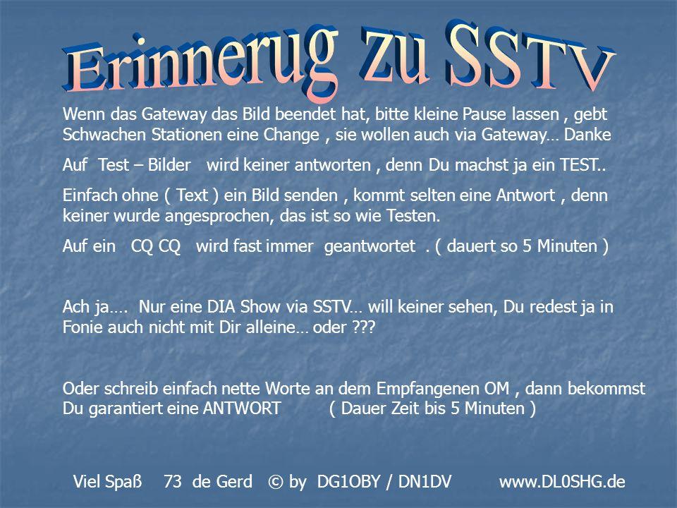Erinnerug zu SSTV