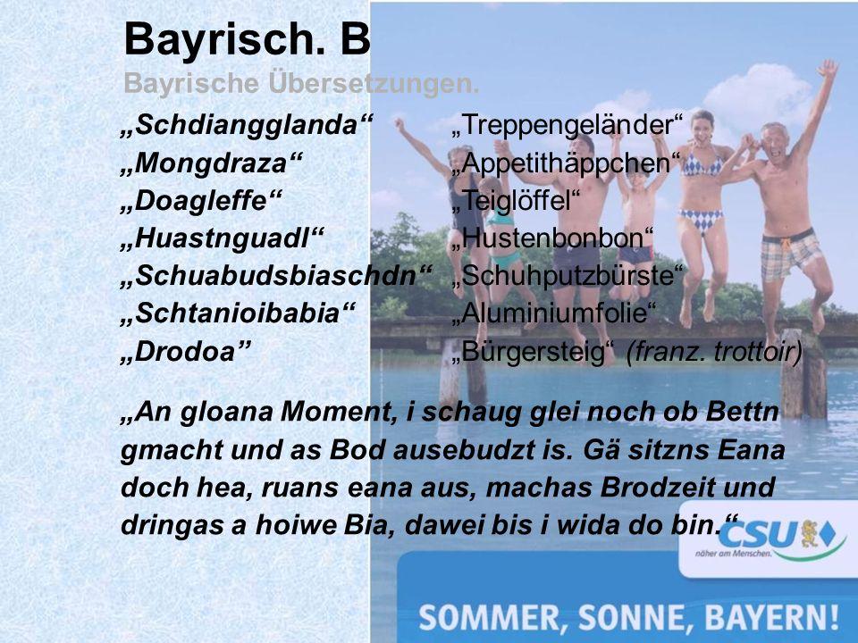Bayrisch. B Bayrische Übersetzungen.