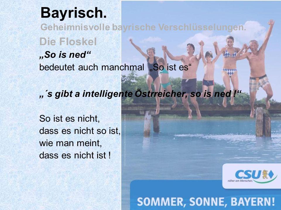 Bayrisch. Geheimnisvolle bayrische Verschlüsselungen.