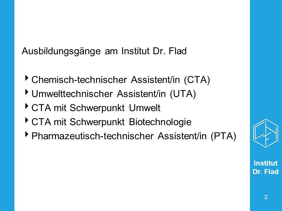 Ausbildungsgänge am Institut Dr. Flad
