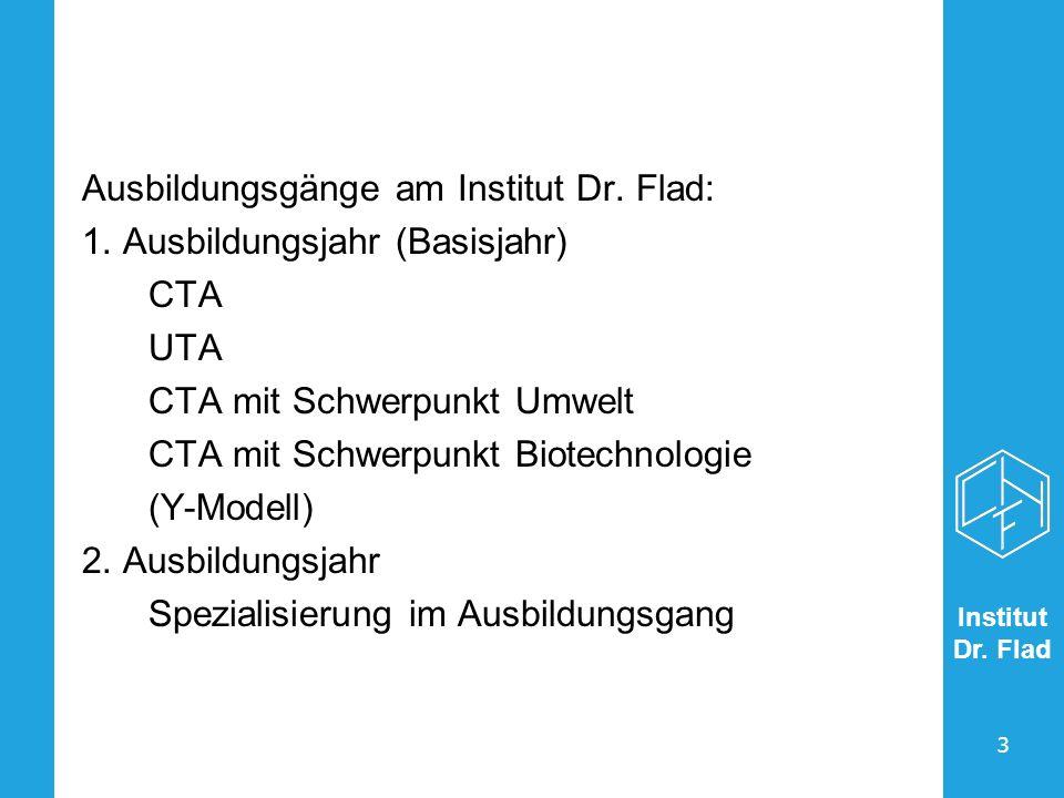 Ausbildungsgänge am Institut Dr. Flad: