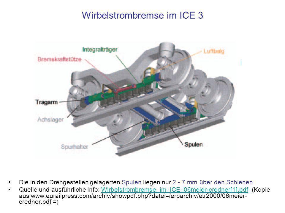 Wirbelstrombremse im ICE 3