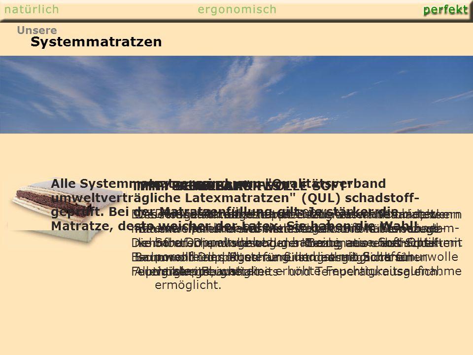 Systemmatratzen TYP: SENSILAT