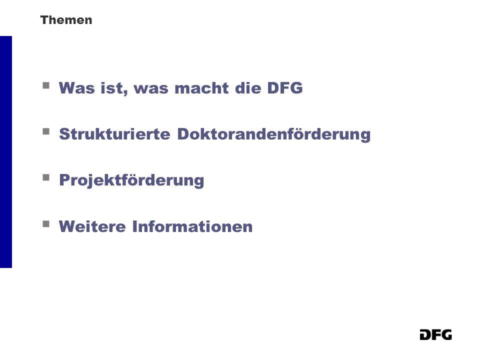 Was ist, was macht die DFG Strukturierte Doktorandenförderung