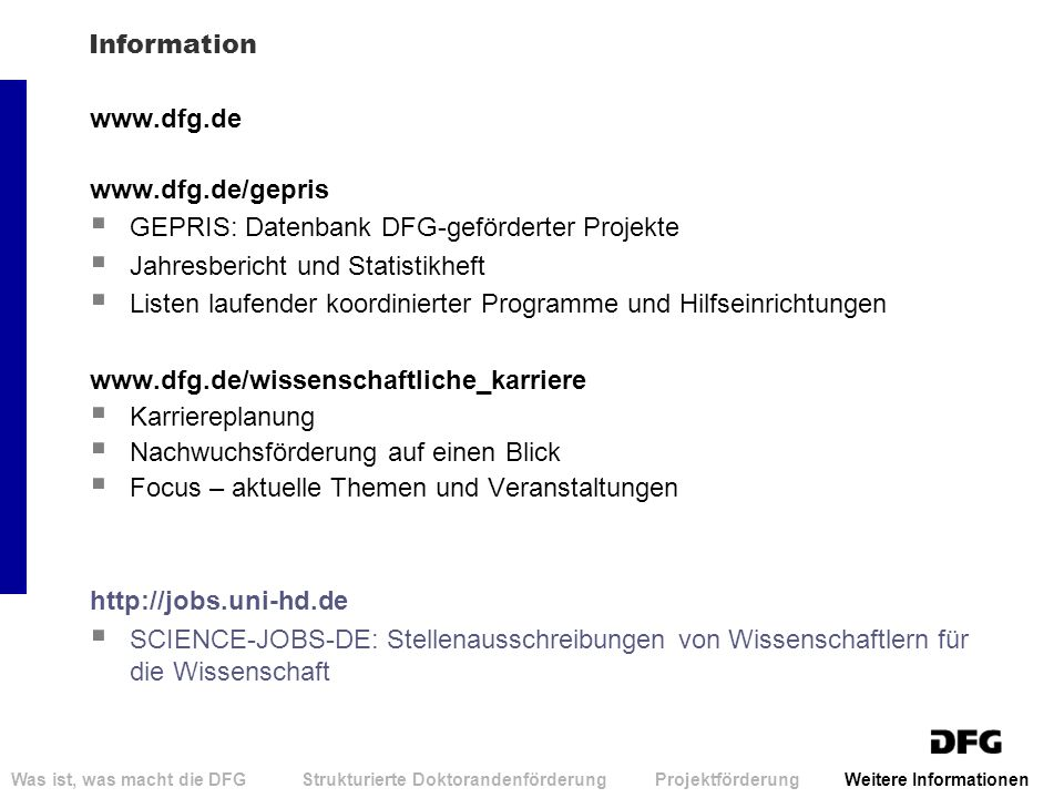 GEPRIS: Datenbank DFG-geförderter Projekte